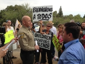 Pinal County Sheriff at Oracle protest.