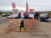 Tea Partiers protest immigrant children coming to Oracle.