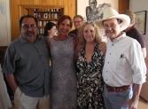 PDA activists Allison McCloed and Pamela Powers Hannley with Congressman Grijalva and Jim Hightower.