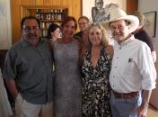 PDA activists Allison McCloed and Pamela Powers Hannley with Congressman Grijalva and Jim Hightower.