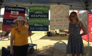Pam and Eva, volunteers at the PDA Tucson booth.